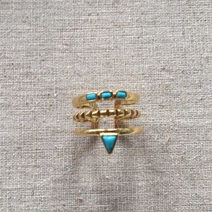 Stella & Dot Turquoise Stacked Ring